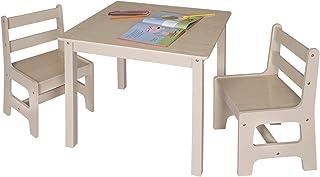 eSituro Mesa para Niños con 2 Sillas Grupo de Asientos y Es
