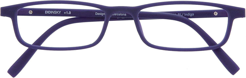 DIDINSKY Gafas de Presbicia con Filtro Anti Luz Azul para Ordenador. Gafas Graduadas de Lectura para Hombre y Mujer. Tacto Goma y Cristales Anti-reflejantes. 8 colores y 5 graduaciones – ARKEN SCREEN