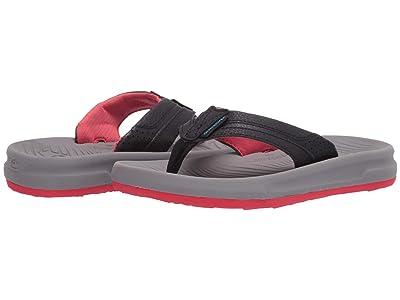 Quiksilver Kids Oasis (Toddler/Little Kid/Big Kid) (Black/Grey/Red) Boys Shoes