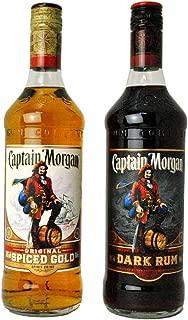 キャプテンモルガン スパイストゴールド・ブラック (700ml各1本) 2本セット [並行輸入品]