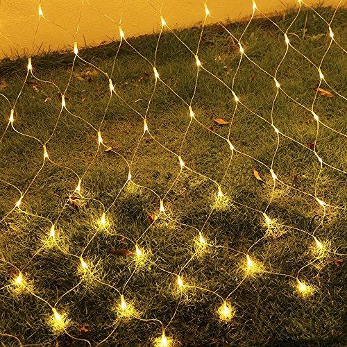 HJ® 3 m * 3 m Net Lichter 300 LED Lichternetz Weihnachtslichterkette Dekorative Lichterkette IP44 Warmweiß