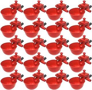 POPETPOP Bebedor de Pollo-20 Pzas Tazón de Pichón Durable Ajustable Automático Bebedor de Agua para Codorniz de Pollo