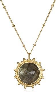 Women's Labradorite Gold Pendant Necklace 18-Inch