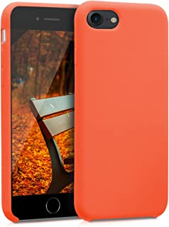 kwmobile TPU Silicone Case for Apple iPhone 7/8 - Soft Flexible Rubber Protective Cover - Neon Orange