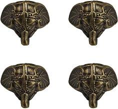 4 STKS Brons Plastic Antieke Olifant Base Voeten Hoek Retro Ontwerp Decoratieve Houten Case Benen voor Vintage Houten Kist...
