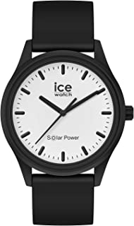 Ice-Watch - Ice Solar Power Moon - Montre Noire Mixte avec Bracelet en Silicone - 017763 (Medium)