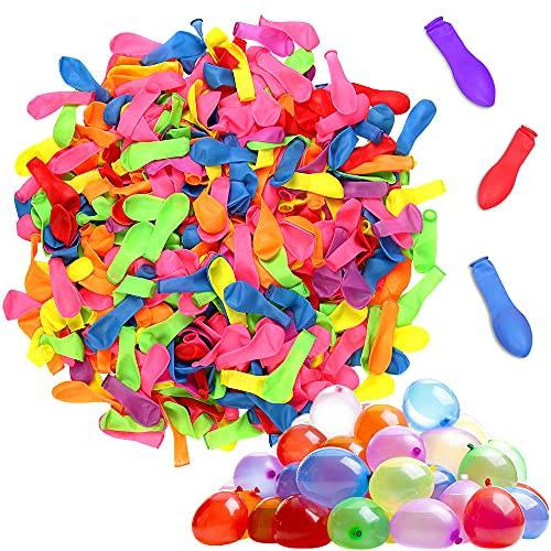 Wasserbomben, 1000 PCS Wasserbomben Luftballons, Wasserballons Bunt Gemischt, Wasserballon, Wasserbomben Bunch Balloons, Wasserschlacht Luftballons für Geburtstagsfeier Strand Party