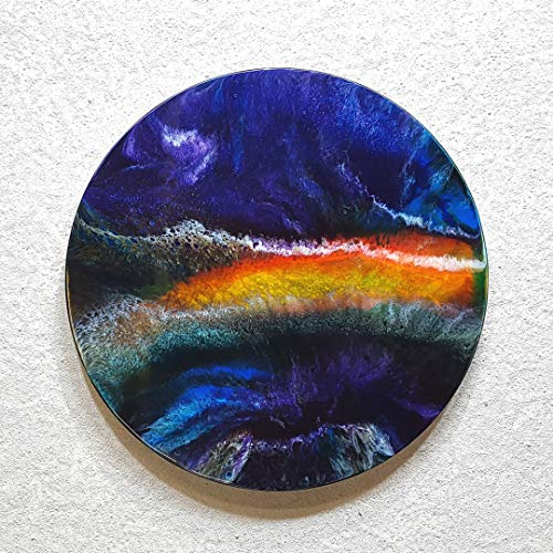 ORIGINAL Abstrakte Malerei Resin Kunst Bild Harz Gemälde Unikat HANDGEMALT - hochglanz Wandbilder direkt vom Künstler F.H. - Wohnung Deko Wohnzimmer - Werksnummer: Re 016