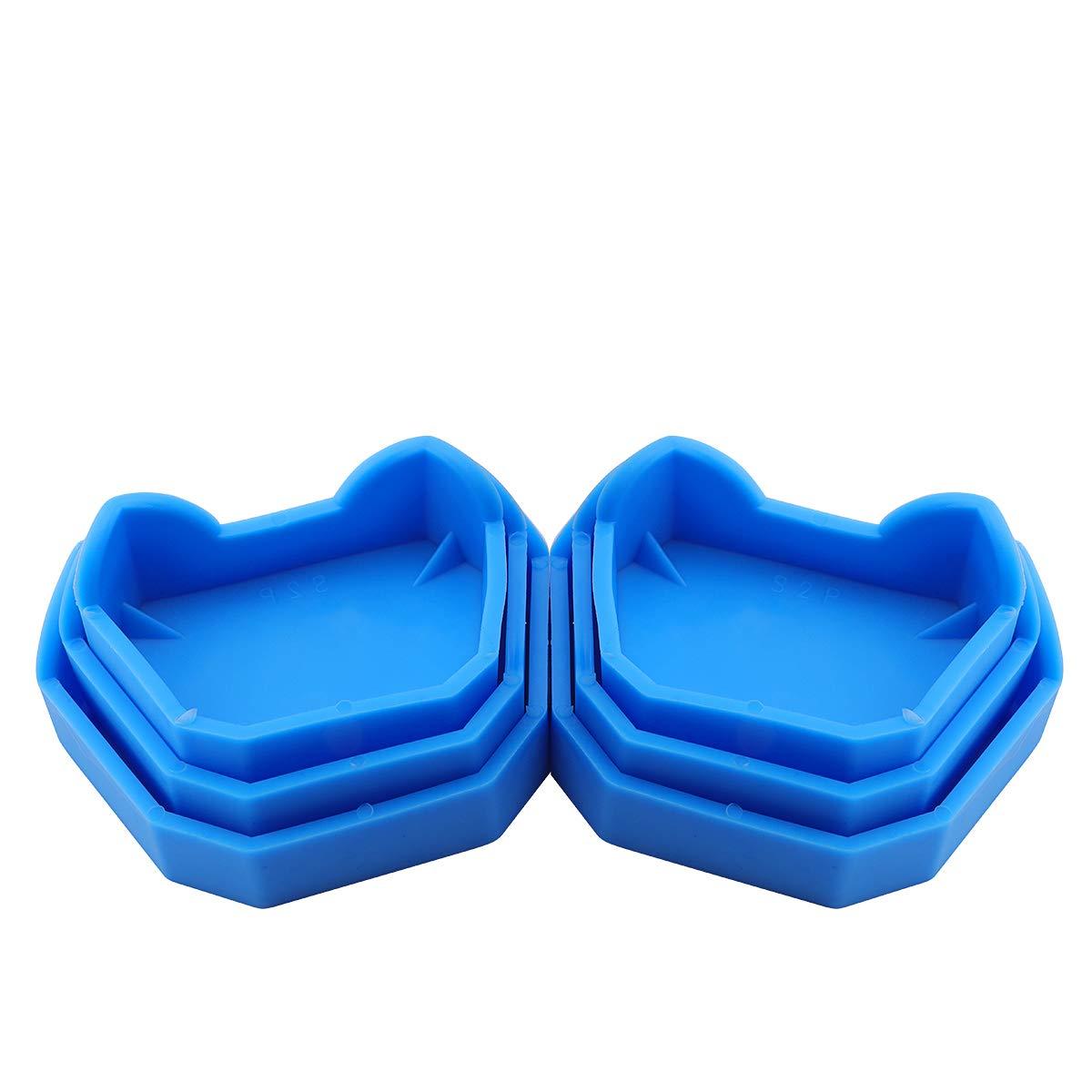 ANNWAH Dental Model Base Former Now on sale Denta Plaster 6PCS Max 44% OFF Kit Silicone
