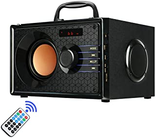 Portable Wireless Bluetooth Speakers with FM Radio Subwoofer MP3 Player Remote Control AUX, Rich Bass Party Speaker, Clear... photo