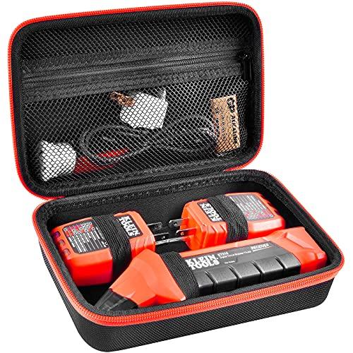 집적형 GFCI 아웃렛 테스터 및 액세서리용 CASE ET310 공구 AC 차단기 파인더 전기 공구 백 저장기 지퍼 메쉬 포켓 장착 케이스 호환(BOX ONLY)