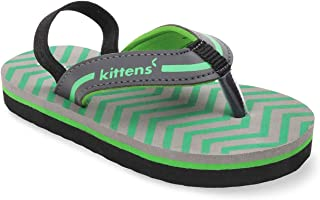 KITTENS Green Flip Flops for Boys