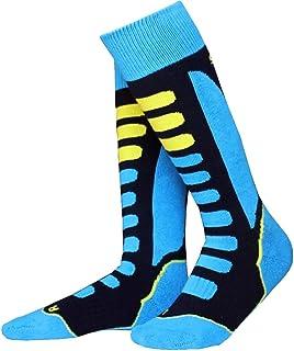 ReedG, Calcetines de esquí Termales Rodilla de Alta los niños de esquí Calcetines de algodón Caliente a Prueba de Agua for niños Equipo de esquí al Aire Libre se Divierte los Calcetines for EUR 27-34