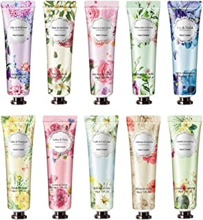 Freeorr 10 Pack Flower Fragrance Handcreme mit Sheabutter, Vitamin E, Handcreme-Geschenkset Feuchtigkeitsspendend für trockene Hände und Füße - 30 ml
