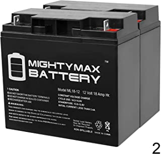 Mighty Max Battery 12V 18AH SLA Battery for Electric Bicycle Co EV Warrior - 2 Pack Brand Product