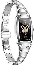 Smartwatch voor dames, zilverkleurig, met Bluetooth en fitnesstracker-functie, IP68, waterdicht, tijdgereedschap voor dame...