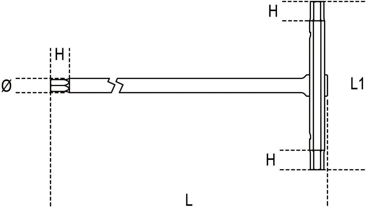 Beta 951K 2 Chiavi a T con 3 Estremit/à Maschio Esagonale Cromate