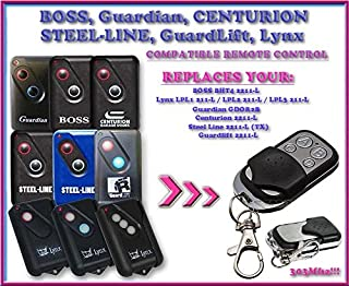 Guardian 21230 21230L / Guardian GDOR2B compatible remote control, replacement transmitter for garage door openers! Top Quality key fob, 303MHz !!!