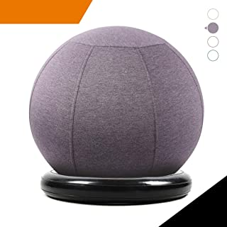 Sport Shiny Balance Ball Chair Junior,Flexible Seating Set for Kids,Yoga Ball with Machine Washable Slipcover,Ring Base Kit,Ergonomic Exercise Ball Chair,Quick Air Pump Included