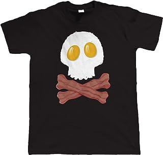 Vectorbomb Bacon & Eggs Skull Crossbones Mens Funny T-Shirt