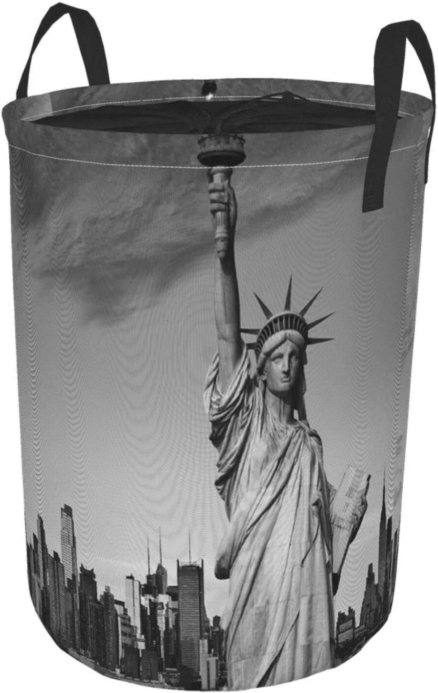 Janrely Large Round Storage Import Basket Handles Libert Statue Ranking TOP12 with of