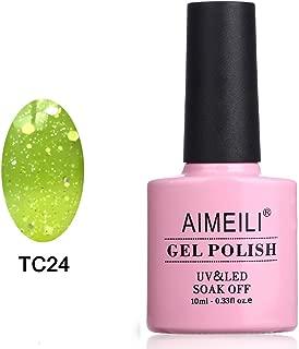 AIMEILI Soak Off UV LED Temperature Colour Changing Chameleon Gel Nail Polish - Spring Fling (TC24) 10ml