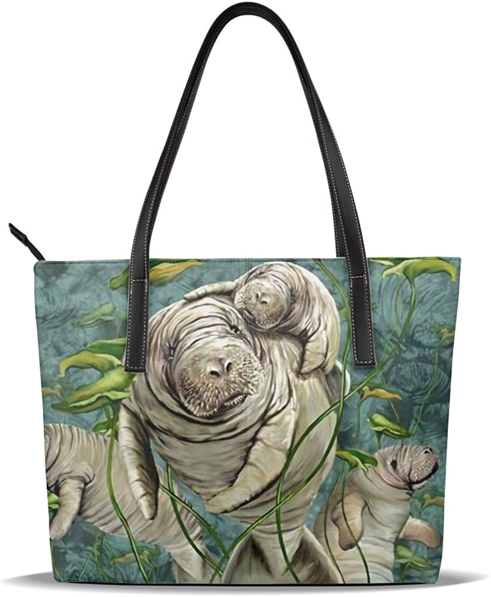 Lowest price challenge Manatee Giant Funny Cute Sea Sale price Baby Printed Patter Love PU Leather