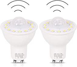 GU10 PIR Motion Sensor Bulbs,No Flicker 5W 50W Equivalent Led Bulb,High Brightness AC220V Lamp for Stairs Garage Corridor ...