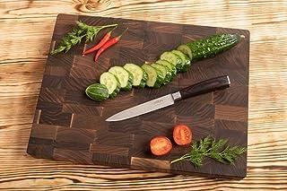 MTM WOOD Tablas de Cortar Cocina de Madera Nogal Marrón Oscuro, Tablas de Picar de Tamaño Diferente y de Espesor 3 y 4 cm, Ideal para Cortar Carne Verdura Pescado Pan (40 x 30 x 3 cm)