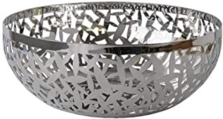 Alessi MSA04/29 Cactus Decorated Fruit Bowl, 18/10 Stainless Steel, Mirror Polished, 29 cm