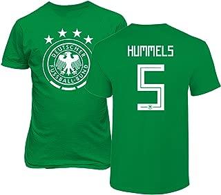 Tcamp Germany 2018 National Soccer #5 Mats HUMMELS World Championship Men's T-Shirt