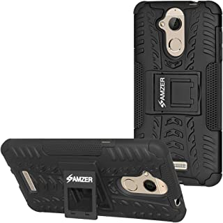 AMZER Hybrid Warrior Dual Layer Slim Protective Shockproof Case Skin for Coolpad Note 5 - Black