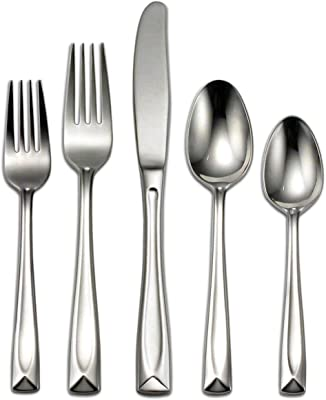 Oneida T837045A Lincoln 45-Piece Flatware Set, Service for 8 Silver