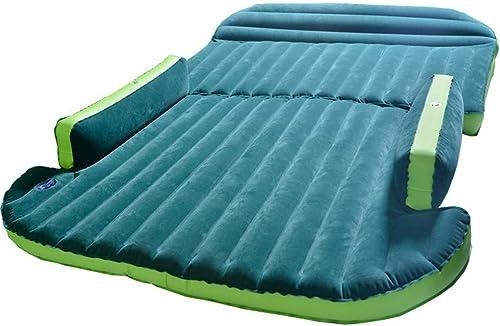 Matelas gonflable de lit voiture, lits pneumatiques de camping voyage, coussin gonflable floqué de de siège arrière de voiture, conception fendue étanche à l'humidité pour le repos extérieur sommeil