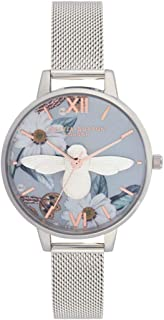 Olivia Burton Womens Quartz Watch, Analog Display and Stainless Steel Strap OB16BF18