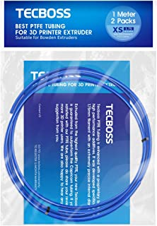Tecboss Bowden Tubing, Premium PTFE Tube for 1.75mm Filament Teflon Tubes Low Friction, Compatible with All 1.75mm PLA ABS 3D Printer, 1 Meter 2 Pack
