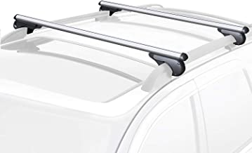 "FIVKLEMNZ 49"" Roof Rack Cross Bars Set, One Pair Adjustable Aluminum Cargo Carrier Rooftop Luggage Crossbars with Anti-The..."