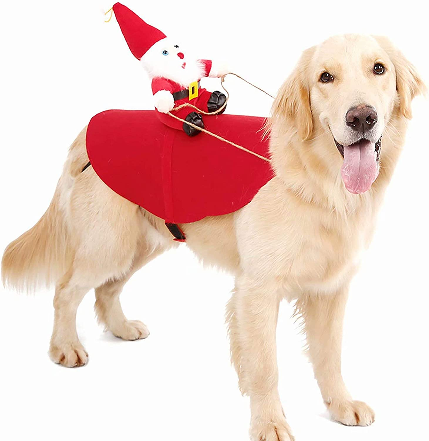 CHENSQ Christmas pet Dog SEAL limited Challenge the lowest price of Japan ☆ product cat into Clothes Transform F
