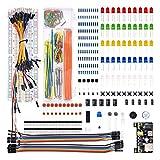 CHANGXINBH Condensadores Electrolíticos 1 Set Electronics Component Kit de Inicio básico con 830 Puntos de Corbata Resistor de Cables, Condensador, LED, potenciómetro