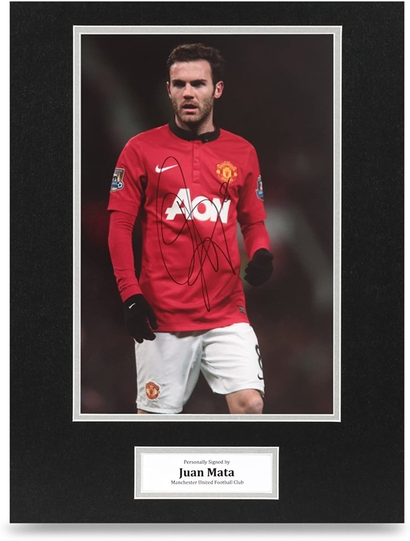 Juan Mata Signed 16x12 Photo Display Man Utd Autograph Memorabilia + COA