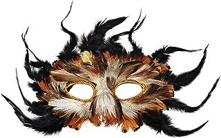 Bristol Novelty EM010 Owl Feather Eye Mask, Multi-Colour, One Size