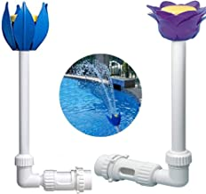 Aubess Pool Fountain Jet Verstelbare Waterval Pool Fontein, Pool Fountain Jet Pool Nozzle Sprinkler voor boven de grond In...