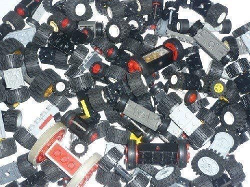 LEGO Räder Set 10 Stück komplett mit Achse TOP Rad Reifen