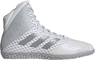 adidas Mat Wizard Hype White/Silver Wrestling Shoes 8.5