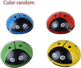 Cute Animal De Madera Yoyo Juguetes Ladybug Portátil Impresión Yoyo Ball para Niños Desarrollo De Coordinación Mano-Ojo Vida Solitaria