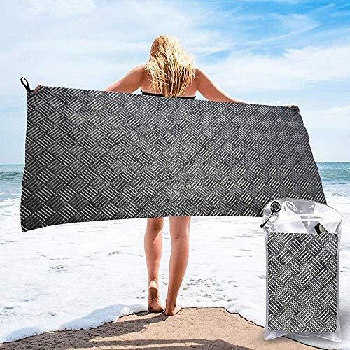 Black-Sky Schnell trocknendes Handtuch für das Strand-Reise-Badezimmer-Schwimmen Camping, quadratische Metallmuster-schnell trocknende Handtücher