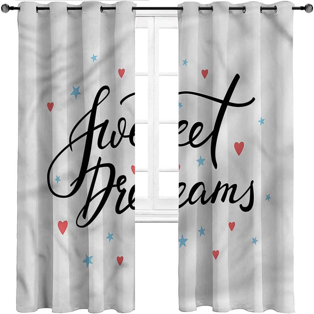 Interestlee Kids Curtains Sweet Dreams Drapes Grommet for Finally resale start Patio Max 65% OFF
