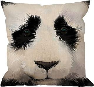 HGOD DESIGNS Panda Pillow Case,Decorative Throw Pillow Cover Portrait of Panda Raster..