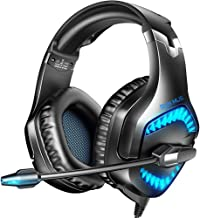 RUNMUS Gaming Headset for New Xbox One, PS5, PS4, PC Headset with Stereo Sound, Noise Canceling PS4 Headset with Mic & LED...