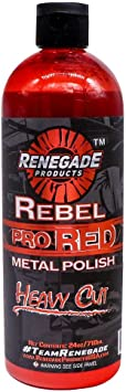 Renegade Products USA Rebel Pro Red Liquid Metal Polish by Heavy Cut Aluminum Polish for High Luster on Rims, Wheels, Tanks, Bumpers etc. 24 Oz Bottle: image